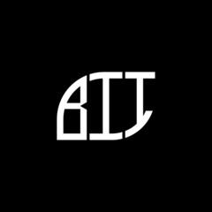 BII letter logo design on black background. BII creative initials letter logo concept. BII letter design.