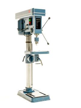 Professional column drill press on white
