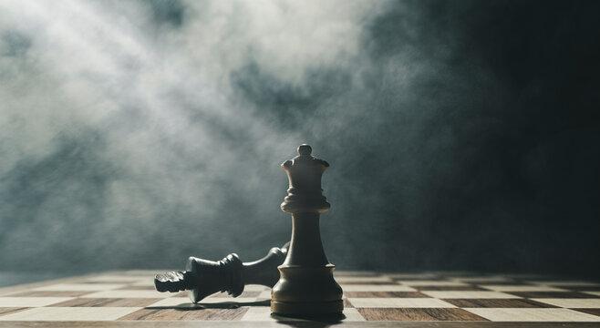 White king checkmates the black king