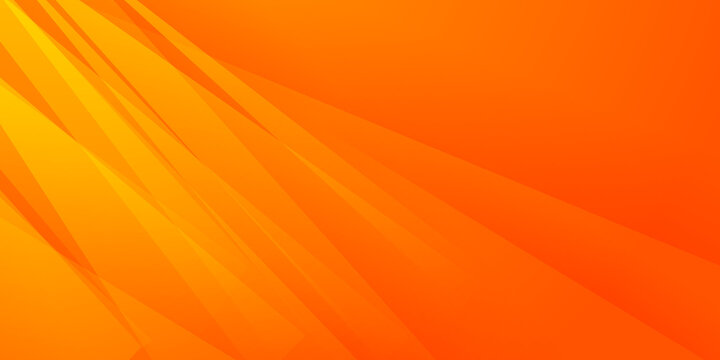Minimal orange and yellow geometric background. Orange elements with fluid gradient and arrow. Dynamic shapes composition. Suit for poster, social media template, cover, annual report, business report