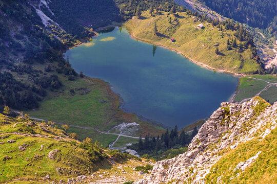 Gaisalpsee - Oberstdorf - Allgäu - Bergsee - Rubihorn - unterer Gaisalpsee
