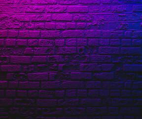 Violet brick wall