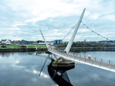 Peace Bridge in Derry / Londonderry Northern Ireland
