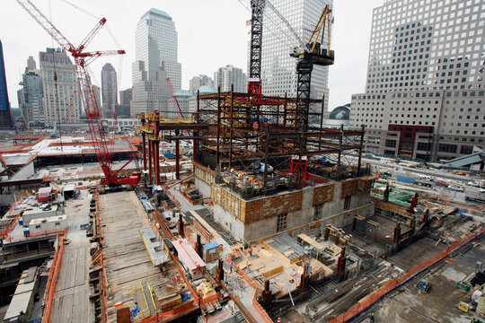 A general view of the World Trade Center construction site in New York