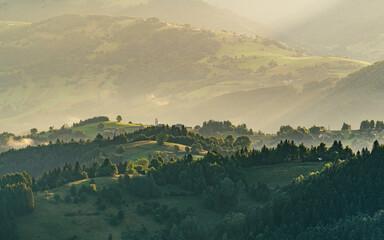 Wzgórza Beskidu Sądeckiego, Piwniczna Zdrój, Widok z Eliaszówki