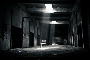 Obraz old abandoned factory - fototapety do salonu