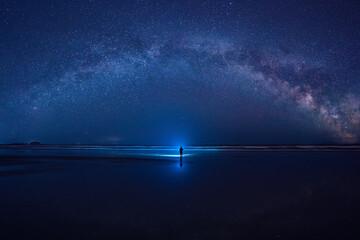 Obraz 은하수가 보이는 서해안 - fototapety do salonu