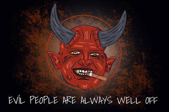 Drawing (in german Zeichnung) – Schlechten Menschen geht es immer gut (in english Evil people are always well off)