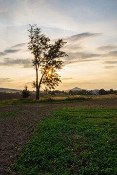 Sunset in the Kaczawskie Mountains - Sudety Poland