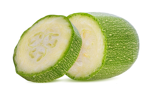 zucchini or marrow isolated on white background