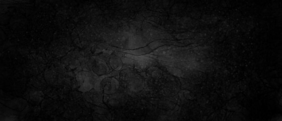 Abstract black grunge watercolor background with dark gray shades on grainy paper. Illustration in gradient watercolor style.
