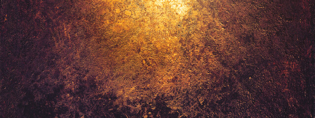 Obraz Rust and oxidized metal background, banner. Grunge rusted metal texture. Old worn metallic iron panel - fototapety do salonu
