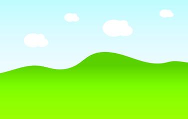 Nature landscape vector illustration. Nature landscape background. Meadow vector illustration