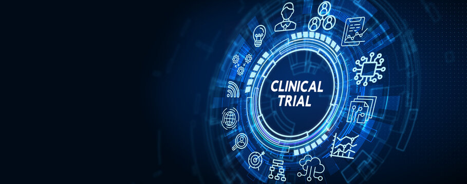 Business, Technology, Internet and network concept. virtual display: Clinical trial