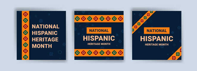 Fototapeta Hispanic heritage month. Banners for social media, cards, posters and postcards. obraz