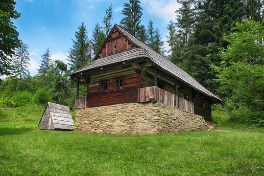 Historical wooden old house from 19th century