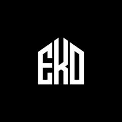 EKO letter logo design on black background. EKO creative initials letter logo concept. EKO letter design.