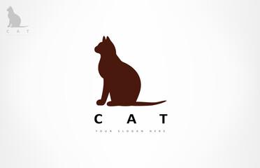 Obraz Cat logo vector animal design - fototapety do salonu