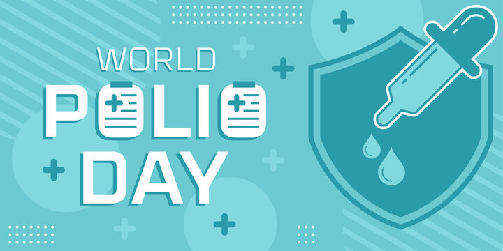 Flat world polio day template. Vector premium