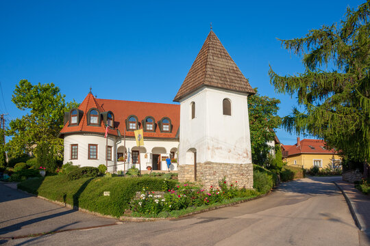 The village of Paloznak at Lake Balaton in Hungary 10-08-2021