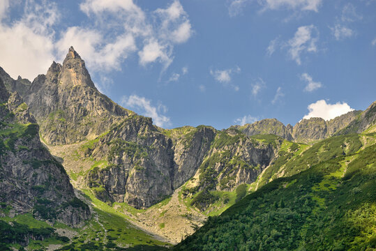 Mnich - a peak with a height of 2068 m in the Polish High Tatras.