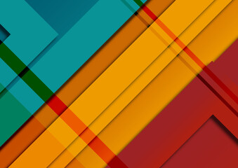 Abstrakcyjne tło - kolorowe warstwy, kształty, światla i cienie. Dynamiczna kompozycja, geometryczne tło na okładki, banery, ulotki, plakaty, tapeta na blog lub social media story.