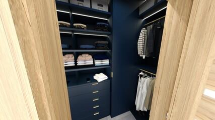 Niebieska garderoba