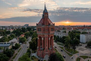 Wieża ciśnień, Krzyki, Wrocław, Dolny Śląsk, Polska
