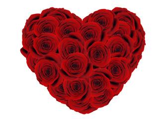 Obraz Bukiet z róż w kształcie serca - fototapety do salonu