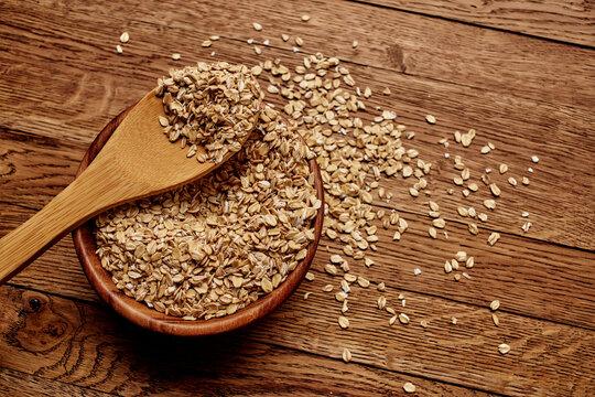 cereal Cooking muesli morning snack wood background
