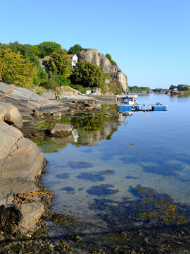 Norway coast and islands early morning, Havna, Tonsberg, Norway