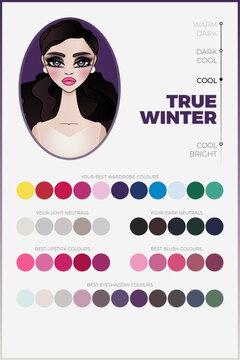 True Winter Seasonal Color Analysis Palette