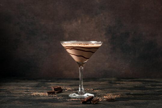 Chocolate Truffle Martini Cocktail