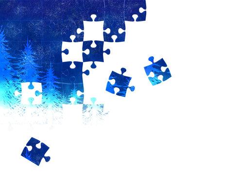 冬空ののジグソーパズル