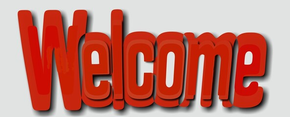 Napis Welcome 002