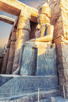 Ramesses Statue by Luxor Temple entrance, Egypt