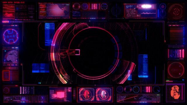 UX Technology Interface Computer HUD Data Digital GUI Screen
