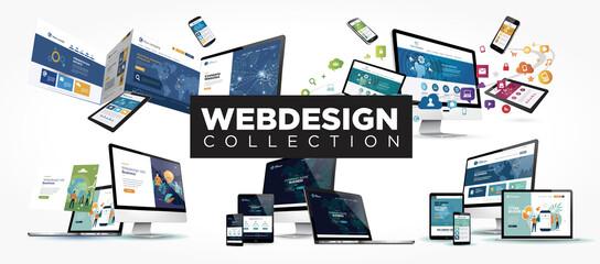 Fototapeta webdesign collection obraz