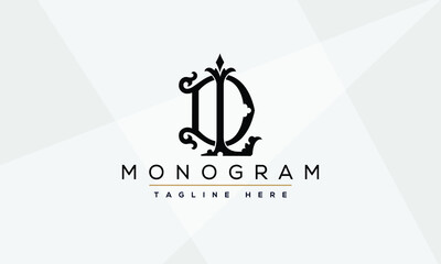 Obraz DL ,LD ,D ,L Letter Logo Design with Creative Modern Trendy Typography - fototapety do salonu