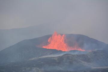 Fagradalsfjall volcano Iceland Fototapete