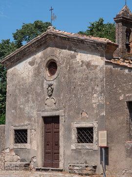 Small church of Sant'Antonio of 1600 in Bolgheri in Tuscany