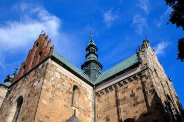 Obraz Świętokrzyskie - Kolegiata św. Marcina w Opatowie - fototapety do salonu