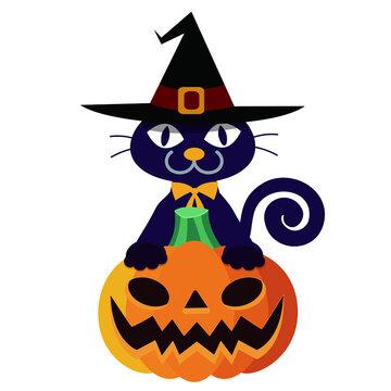 ハロウィンの黒猫:Halloween Black Cat