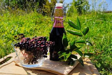 Fototapeta Syrop z owoców czarnego bzu obraz