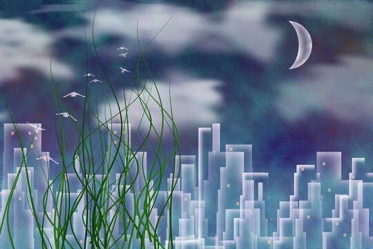 Night City Silhouettes
