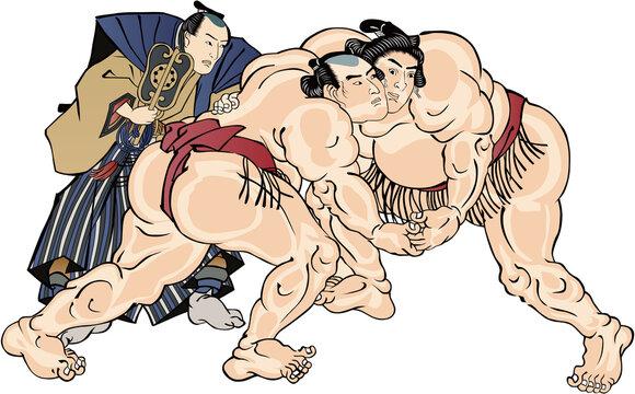浮世絵 相撲取り その47