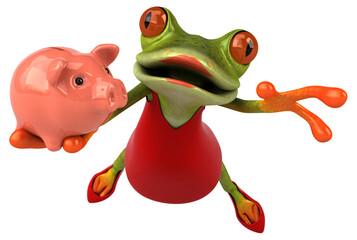 Fototapeta Fun frog - 3D Illustration obraz