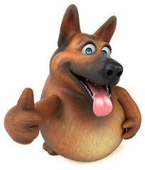 Fototapeta German shepherd dog - 3D Illustration obraz