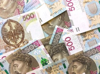 Obraz NARODOWY BANK POLSKI 200 złotych 500 złotych - fototapety do salonu