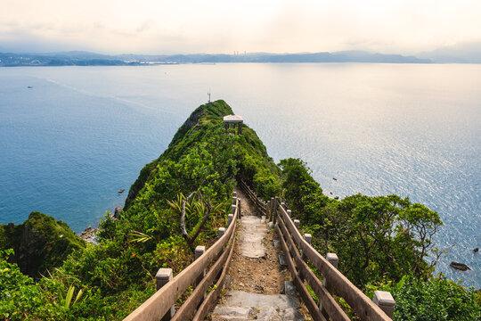 view over the peak of keelung islet in Keelung, taiwan
